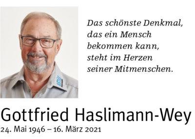 Abschied von Gottfried Haslimann-Wey
